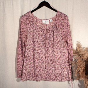 Adjustable Floral Peasant Top by L.O.G.G.